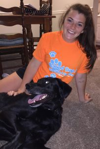 pet sitter Jackie with her dog
