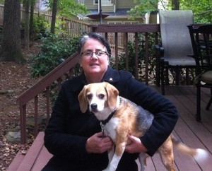 pet sitter bios of Keena Rosetti pet sitter lawrenceville with her dog Rascal
