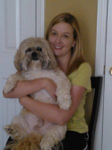 pet sitting dog walking Lawrenceville kimberly kelley with her dog