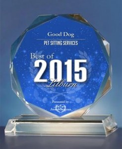Good Dog! Coaching & Pet Care awarded best of Lilburn 2015