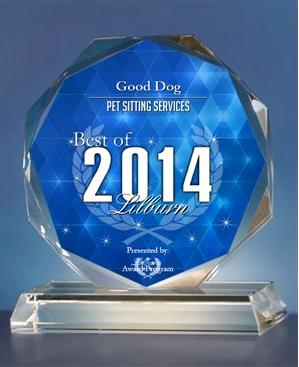 Good Dog! Coaching & Pet Care awarded best of lilburn pet sitting services